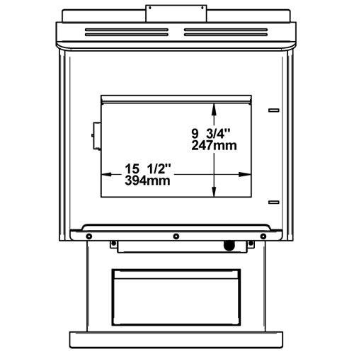 - Century Heating Medium Wood Stove FW3300