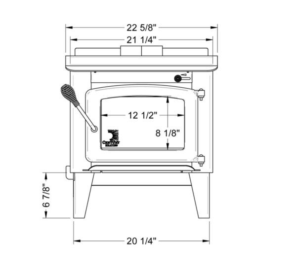 - Century Heating Small Wood Stove S244