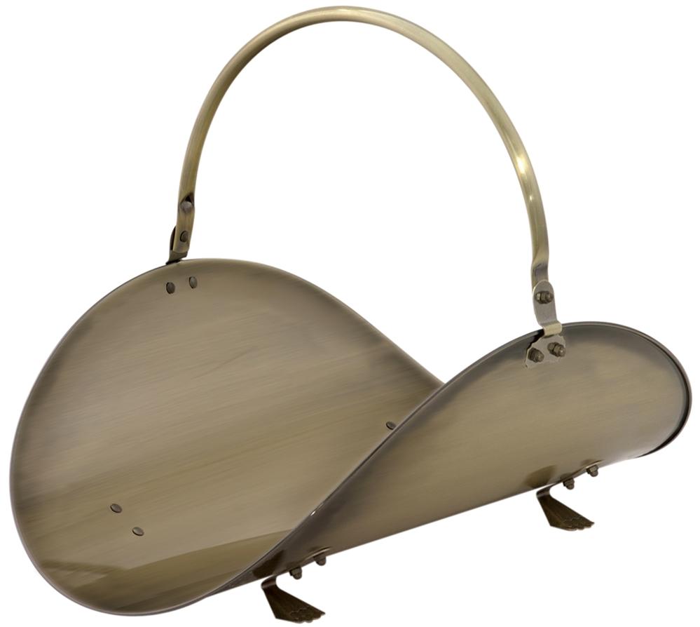 Uniflame Antique Brass 19 Inch Woodbasket