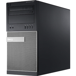 <b>Dell OptiPlex 9020</b> Intel Core i7 (Quad Core) 3.6GHz, 8GB, DVD-RW, 256GB SSD, Minitower Off-Lease PC w/Win 10 Pro 64-bit OS