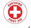 CERTIFIED FIRST AID - Hard Hat Emblems