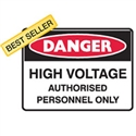 High Voltage Auth.Person.Only.. - Danger Signs