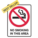 No Smoking In This Area - Prohibition Sign
