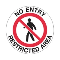 FLOOR SIGN NO ENTRY RESTRICTED AREA