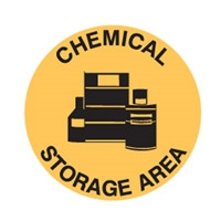 FLOOR SIGN CHEMICAL STORAGE AREA