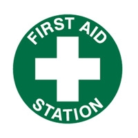FLOOR SIGN FIRST AID STATION