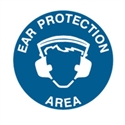 FLOOR SIGN EAR PROTECTION AREA