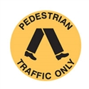 FLOOR SIGN PEDESTRIAN TRAFFIC ONLY