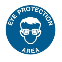 FLOOR SIGN EYE PROTECTION AREA