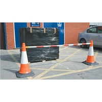 Retractable Cone-top barrier bar 1-2m