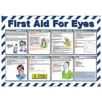 First Aid For Eyes - Workplace Safety Posters