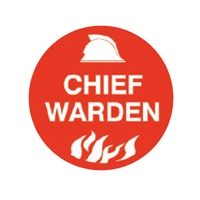Chief Warden - Hard Hat Specialty Emblems