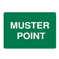 Muster Point - Emergency Information Signs