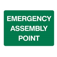 EMERGENCY ASSEMBLY POINT - Signs