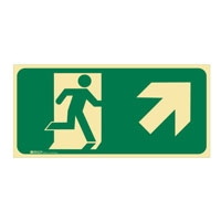 RUNNING MAN EXIT UP/RIGHT ARROW - Signs