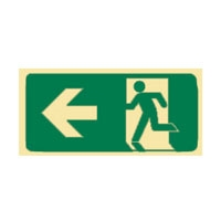 RUNNING MAN EXIT GLO LEFT ARROW - Signs