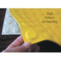 TACTILE FLOOR WARNING INDICATOR BLK