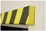 Polyurethane anti collision strip 1m black and yellow Rectangular profile