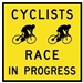Cycling Racing Event in Progress Corflute Sign
