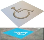 Disabled Picto Aluminium Stencil