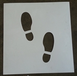 Footprint Reusable Poly Stencil