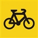 Bicycle Warning Pictogram Sign