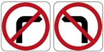 No Left Turn / No Right Turn L/R