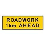 Roadwork 1km Ahead