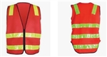 High Visibility Safety Vest w. reflective stripes
