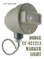 MILITARY WWII DODGES MARKER LIGHT ASSEMBLY - DODGE CC-921213