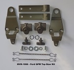 WWII JEEP GPW TOP BOW BRACKET KIT, PIVOT AND BRACKET, WWII JEEP PARTS