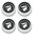 Wheel Cap Magnum 500 Mercury Cougar with Mercury Head Set of 4 1964 1/2 - 1973 Black - Scott Drake