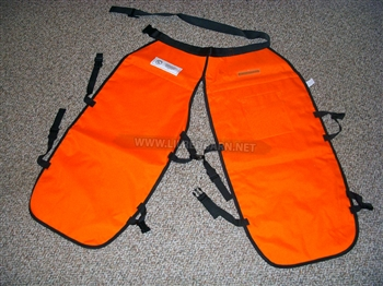 CHAINSAW CHAPS FOR CHAIN SAW USERS UL CLASSIFIED ORANGE