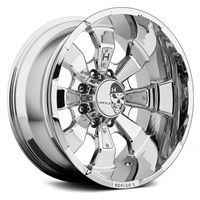 Hostile Hammered Custom Diesel Truck Wheel - 8 Bolt