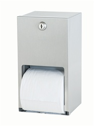 Bradley # 5402 Dual Roll Toilet Tissue Dispenser