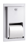 Bradley #5412 Dual Roll Toilet Tissue Dispenser