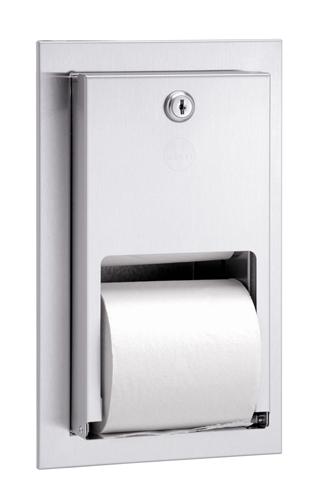 Bradley 5412 Dual Roll Toilet Tissue Dispenser