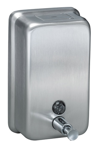 Bradley Vertical Liquid Soap Dispenser - Bradley bathroom accessories