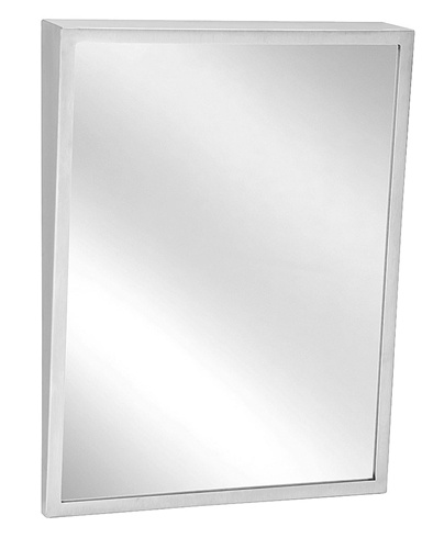 Bradley 740 18x36 fixed tilt framed mirror for Bradley mirror
