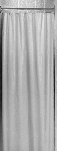 Bradley 9533 Antimicrobial Vinyl Shower Curtain 48x72