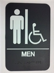 Men's Handicap Accessible Sign