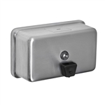 A&J Washroom #U124 Liquid Soap Dispenser- Horizontal Tank