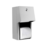 A&J Washroom Dual Roll Toilet Tissue Dispenser