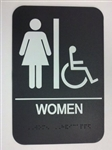 Women's Handicap Accessible Sign