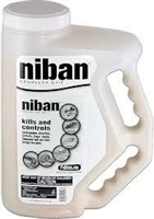 Nisus - Niban Granular Bait - The best all around bait on the market.  Niban's new formulation is tougher and lasts longer than any other granular bait. It is the industry's only granular bait with the power of borates.