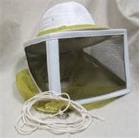 Round Bee Veil - round veil with drawstring features seamless construction for great visibility.  Use with standard pith helmet.