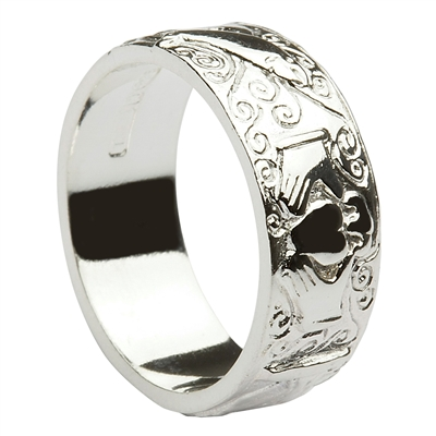 "Sterling Silver Ladies ""Galway"" Claddagh Ring 6mm"