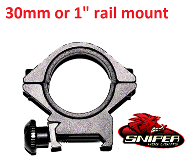 "30mm or 1"" rail mount"