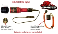 38LRX gun mounted hunting light