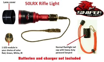 50LRX Rifle light with 1-4 colors